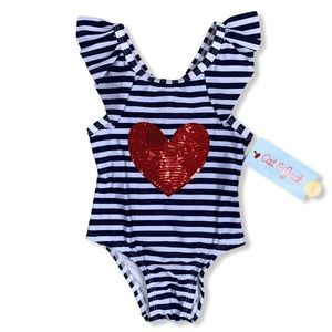 NEW Cat & Jack One Piece Swimsuit Size 12 months